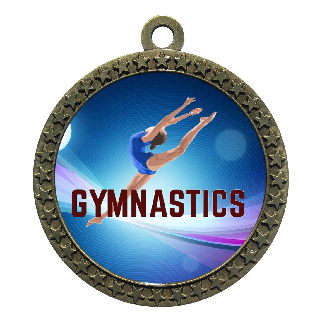 "2-1/2"" Female Gymnastics Medal"