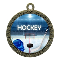 "2-1/2"" Ice Hockey Medal"