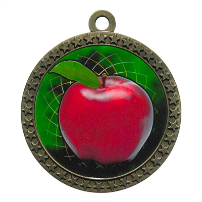 "2-1/2"" Scholastic Apple Medal"