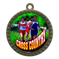 "2-1/2"" Female Cross Country Medal"