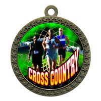 "2-1/2"" Male Cross Country Medal"