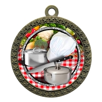 "2-1/2"" Chef Cooking Medal"