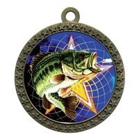 "2-1/2"" Fishing Medal"