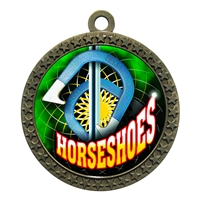 "2-1/2"" Horseshoes Medal"