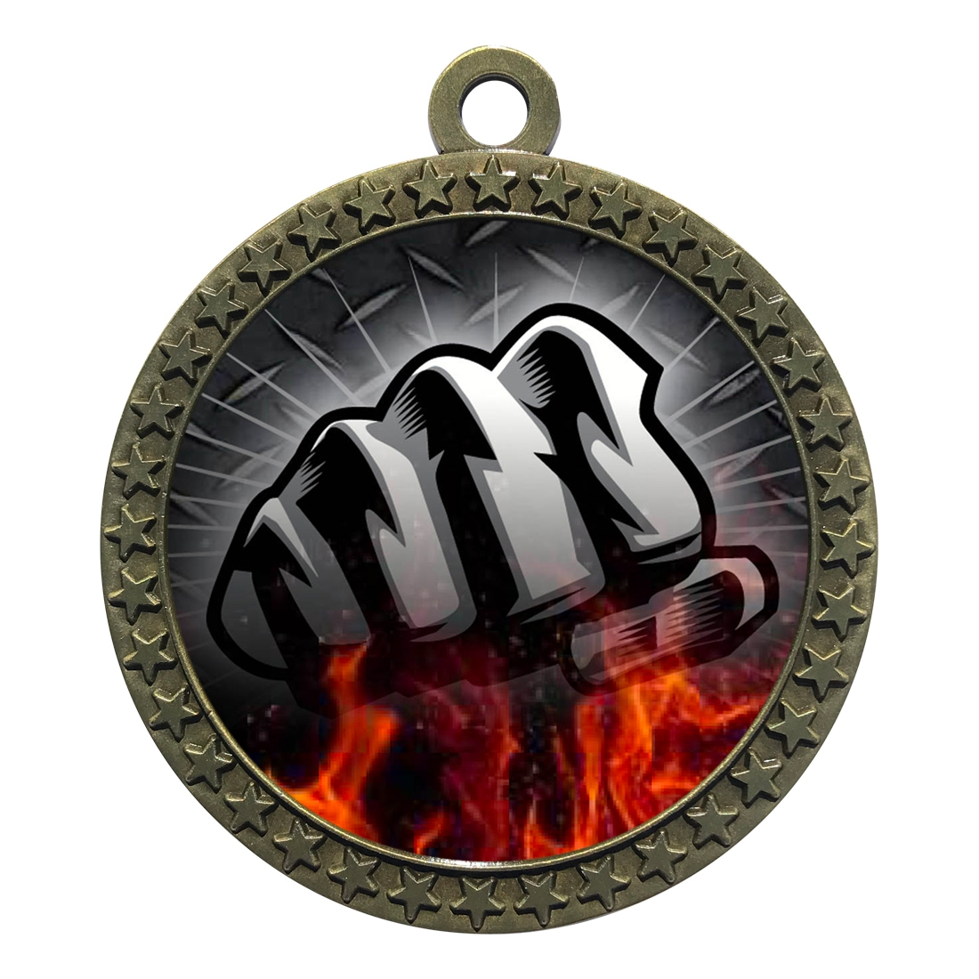 "2-1/2"" Martial Arts Fist Medal"