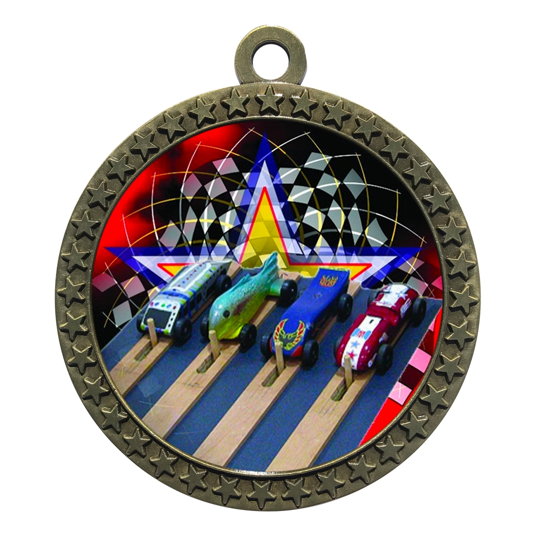 "2-1/2"" Pinewood Derby Medal"