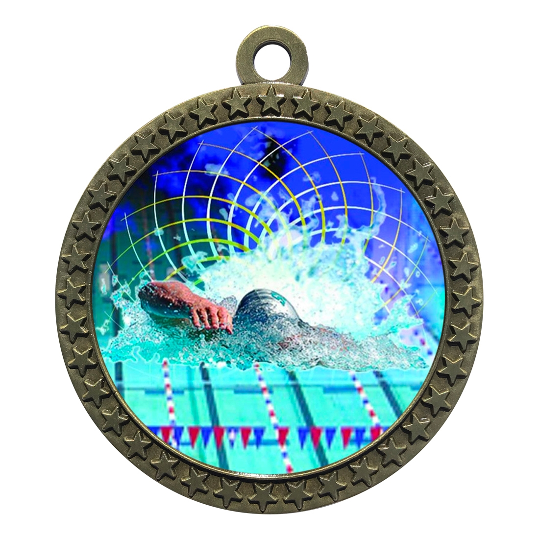 "2-1/2"" Swimming Medal"