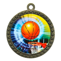 "2-1/2"" Basketball Medal"