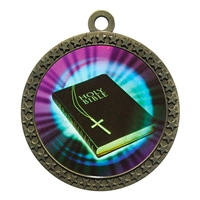 "2-1/2"" Holy Bible Medal"