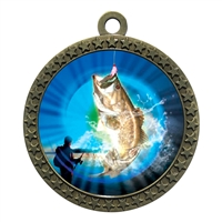 "2-1/2"" Bass Fishing Medal"
