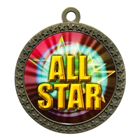 "2-1/2"" All Star Medal"