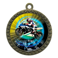 "2-1/2"" Motorcycle Racing Medal"