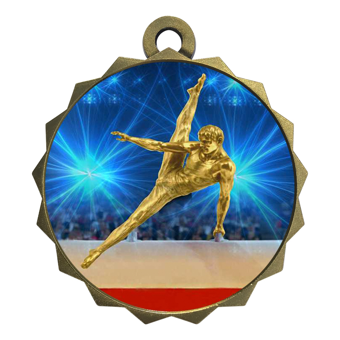 "2-1/4"" Male Gymnastics Medal"