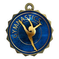 "2-1/4"" Female Gymnastics Medal"