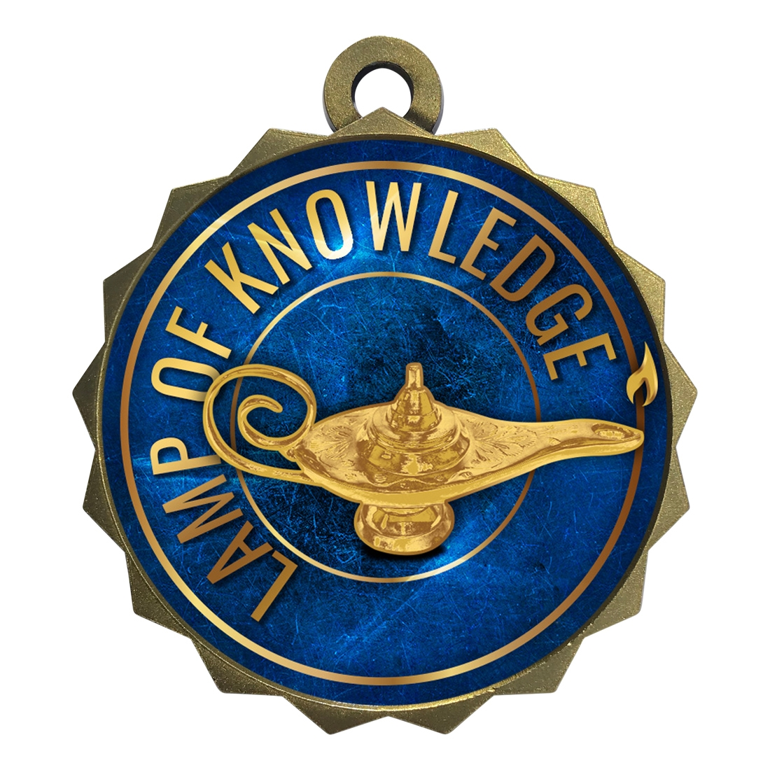 "2-1/4"" Lamp of Knowledge Medal"