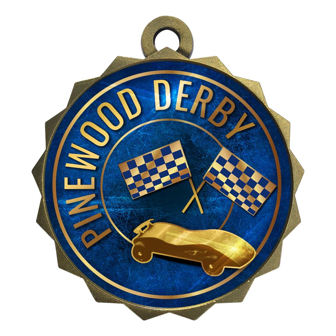 "2-1/4"" Pinewood Derby Medal"