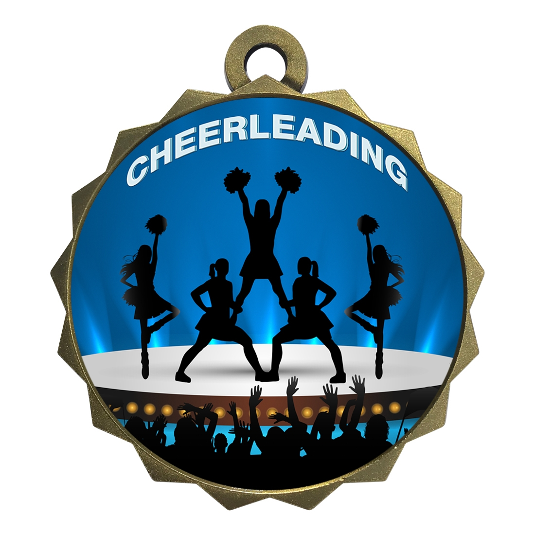"2-1/4"" Cheerleading Medal"