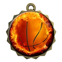 "2-1/4"" Basketball Medal"