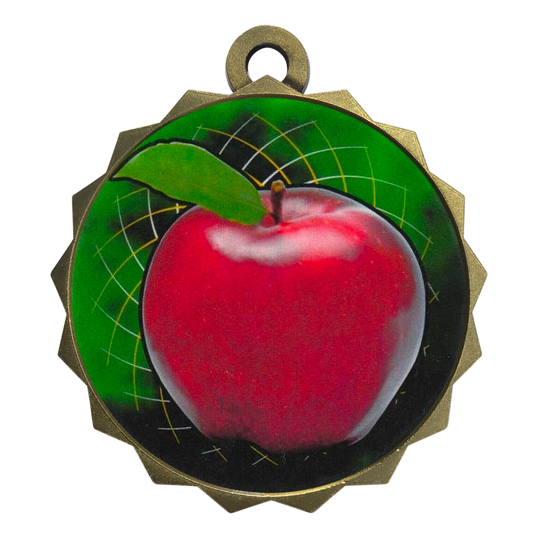 "2-1/4"" Scholastic Apple Medal"