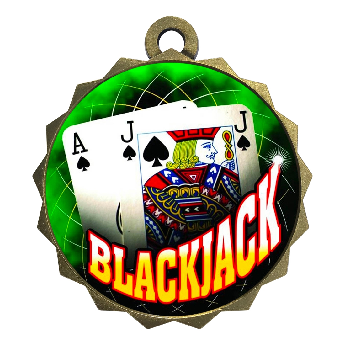 "2-1/4"" Blackjack Medal"
