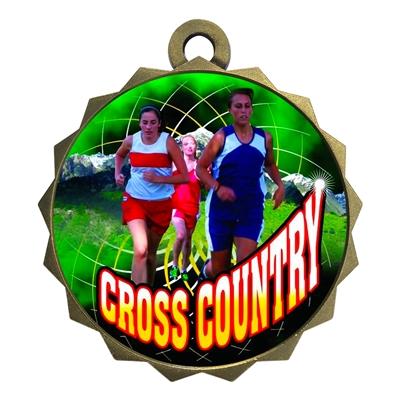"2-1/4"" Female Cross Country Medal"
