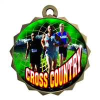 "2-1/4"" Male Cross Country Medal"