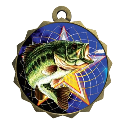 "2-1/4"" Fishing Medal"