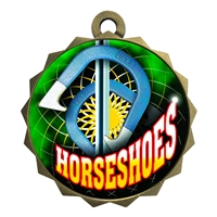 "2-1/4"" Horseshoes Medal"