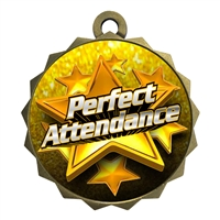 "2-1/4"" Perfect Attendance Medal"