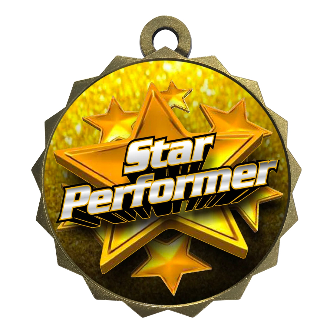 "2-1/4"" Star Performer Medal"
