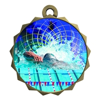 "2-1/4"" Swimming Medal"