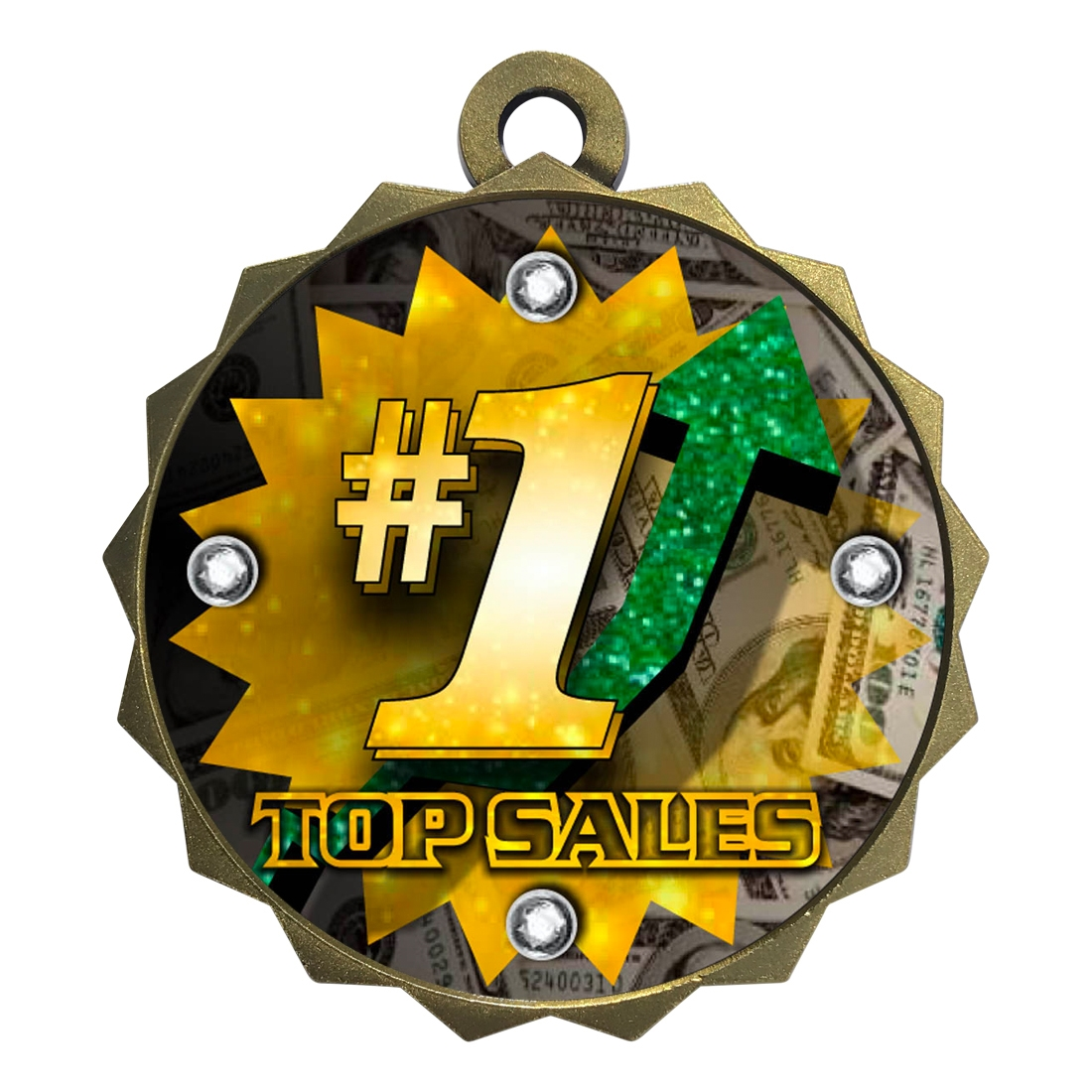 "2-1/4"" Top Sales Medal"