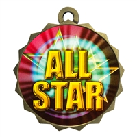 "2-1/4"" All Star Medal"