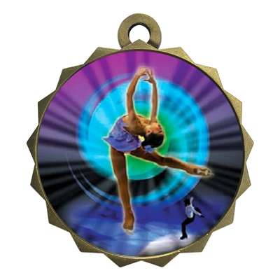 "2-1/4"" Figure Skating Medal"