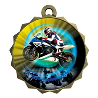 "2-1/4"" Motorcycle Racing Medal"