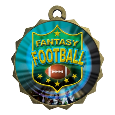 "2-1/4"" Fantasy Football Medal"