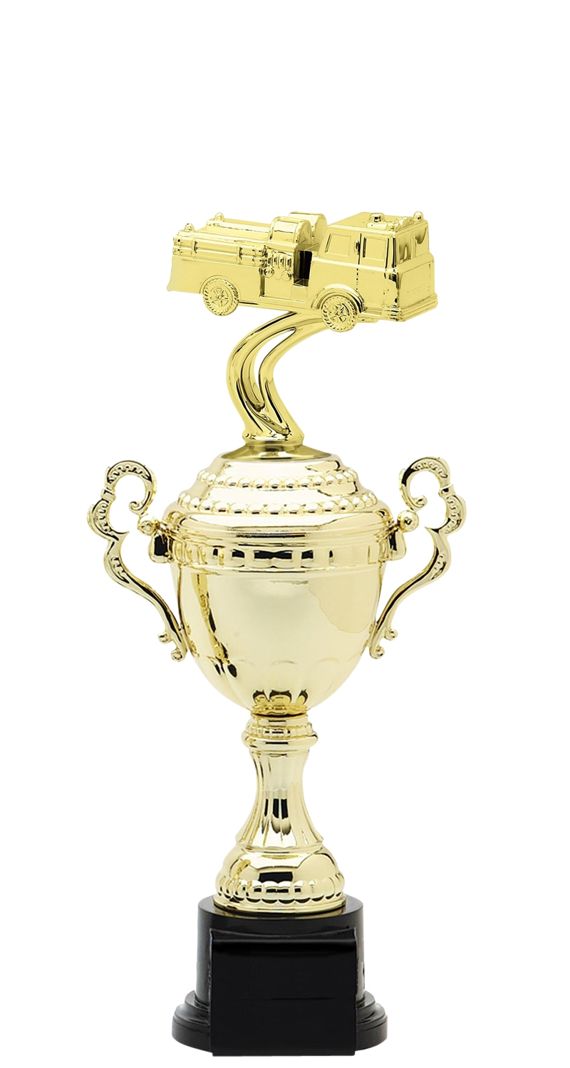 Firetruck Trophy Cup on synthetic base in (6 - Sizes)
