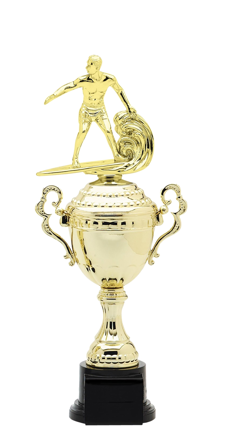 Surfing Trophy Cup on synthetic base in (6 - Sizes)