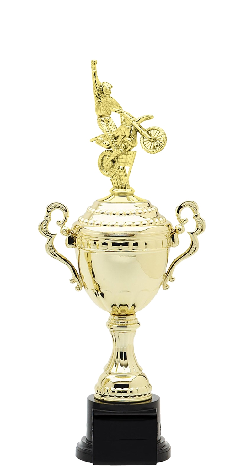 Motocross Plastic Verona Trophy Cup on synthetic base in 6 sizes