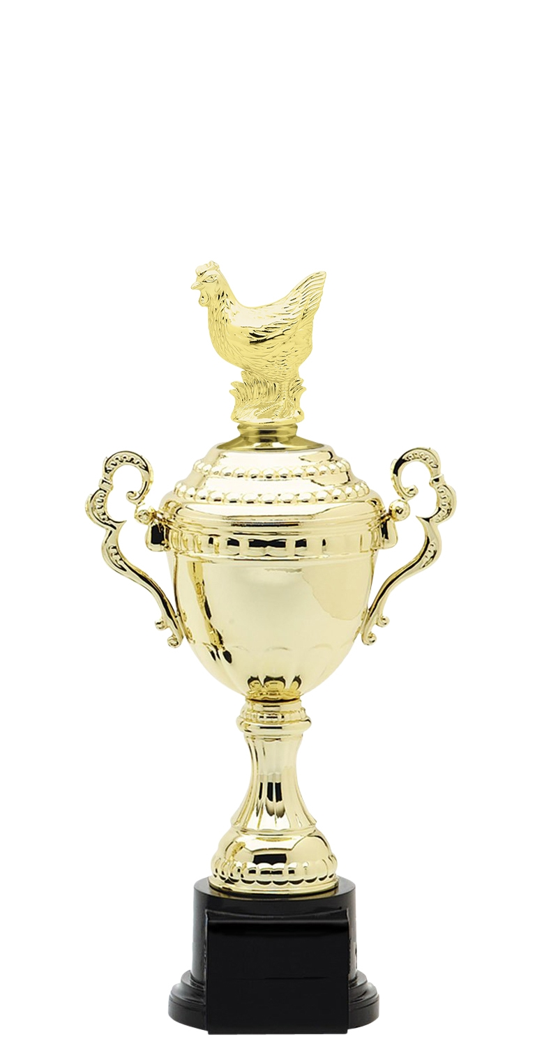 Hen Trophy Cup on synthetic base in (6 - Sizes)