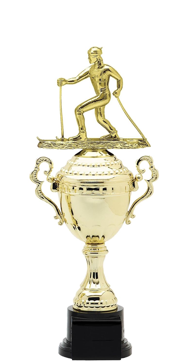 Cross Country Ski Plastic Verona Trophy Cup on synthetic base in 6 sizes