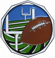"2"" Decagon Football Medal DCM-623"