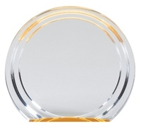 "6"" Double Halo Round Acrylic Awards"