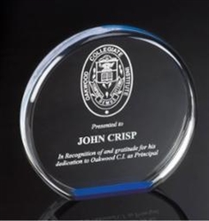 "6"" Diameter Acrylic Awards"