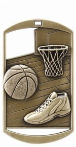 "2-3/4"" DT Series Basketball Medal DT211"