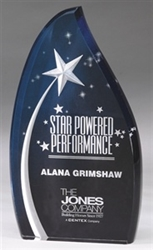 "9-1/2"" Shooting Star Acrylic Awards"