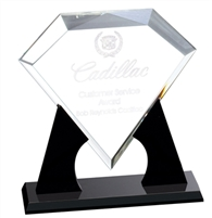"DT750B Diamond Acrylic Award 10"" x 10"""