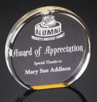 "5"" Diameter Acrylic Awards"