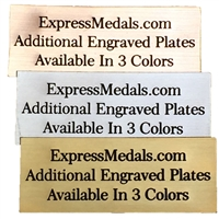 Extra Engraved Plates 2 to 3 Inch Wide