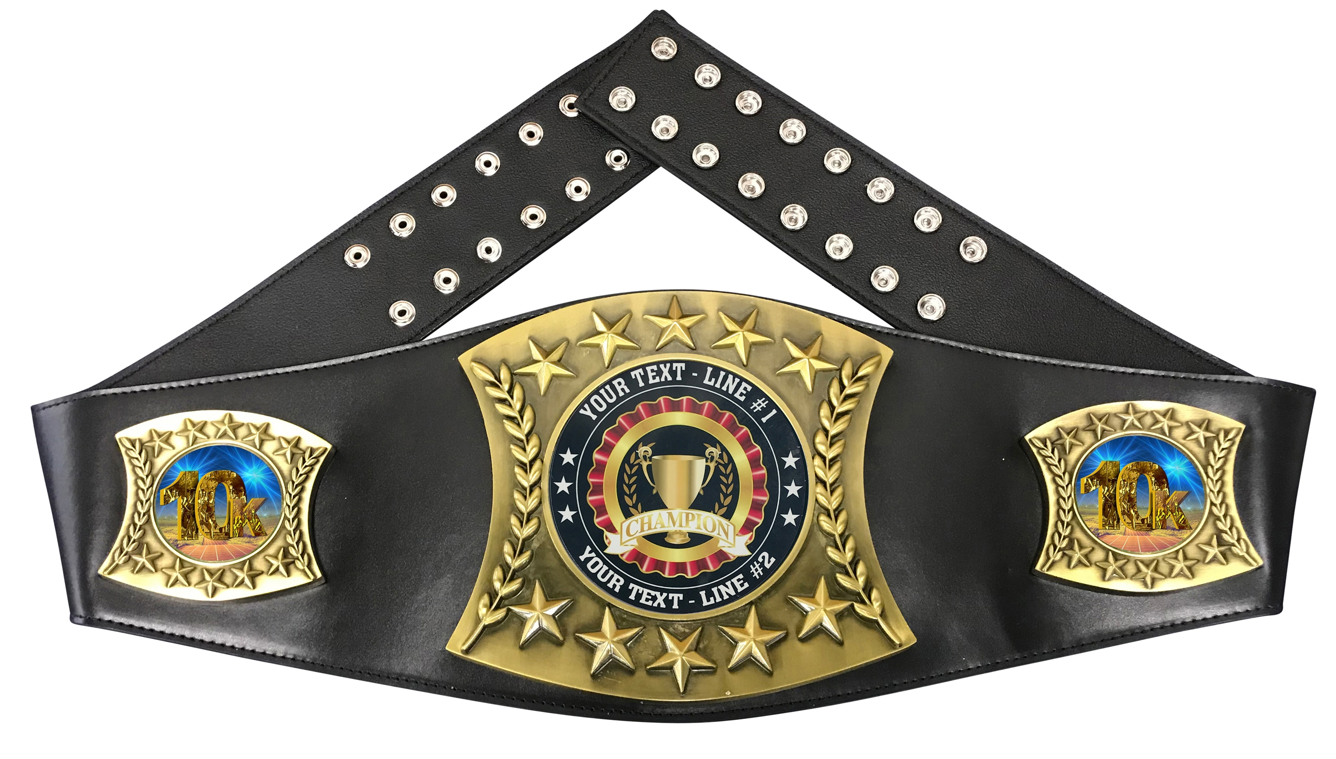 10K Personalized Championship Leather Belt